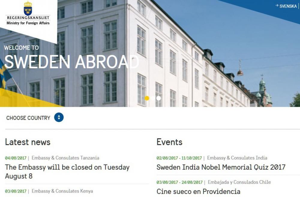 Посолства - Посолство на Швеция