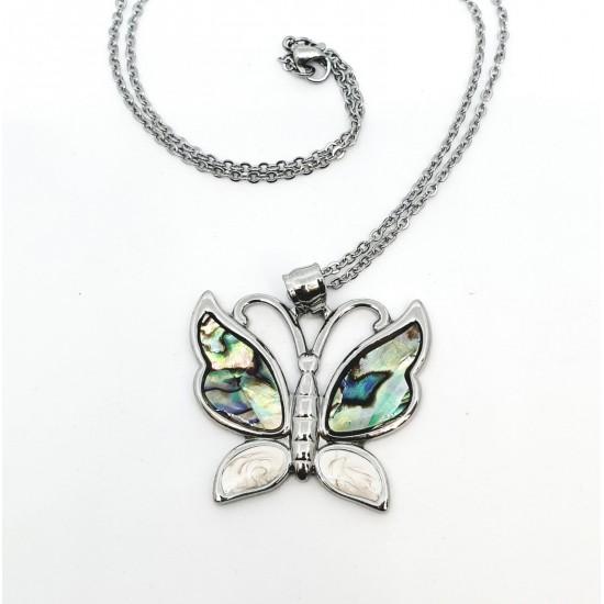 Колие с пеперуда от Венецианско стъкло Мурано  SP11682