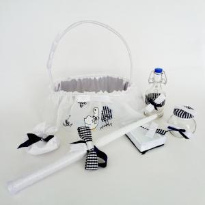Комплект за кръщене с дантаела на патета КА019