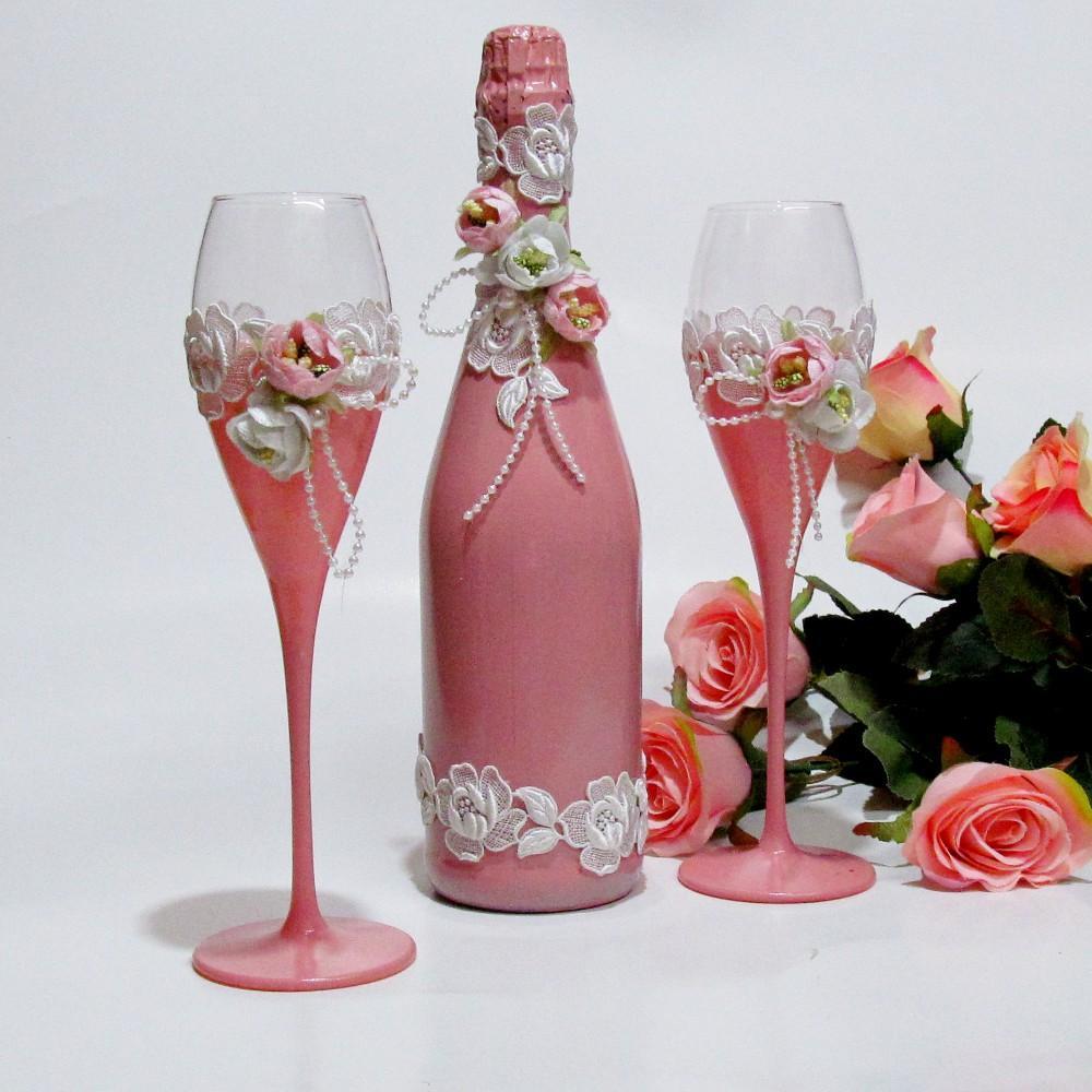 Сватбен комплект - Шампанско и Ритуални чаши
